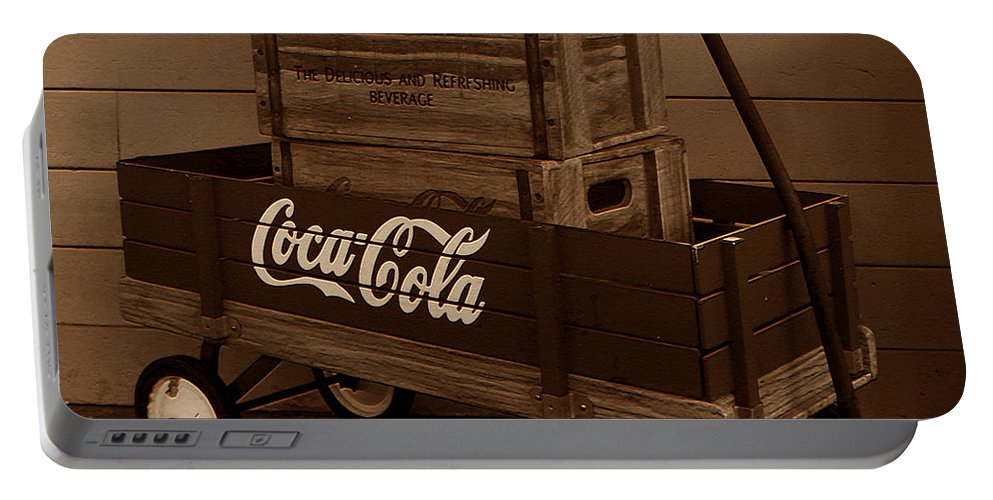 Coke Wagon Portable Battery Charger featuring the photograph Coke Wagon by David Lee Thompson