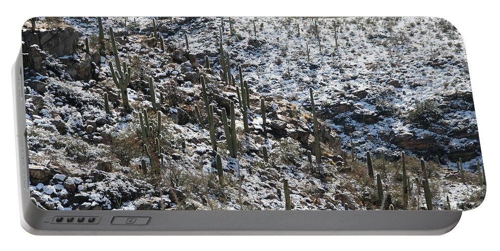 David S Reynolds Portable Battery Charger featuring the photograph Cold Day In Hell by David S Reynolds
