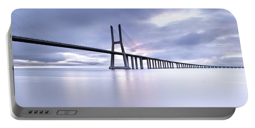 Lisbon Portable Battery Charger featuring the photograph Cold by Jorge Maia