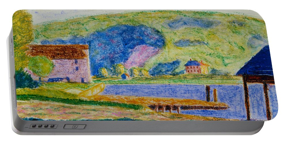 Oscar Florianus Bluemner Portable Battery Charger featuring the digital art Cold Spring Harbor by Oscar Bluemner