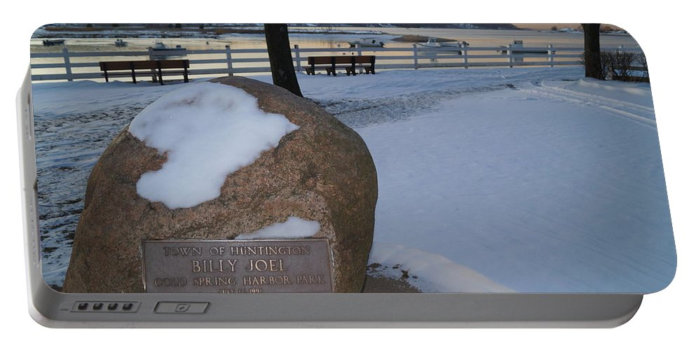 Billy Joel Portable Battery Charger featuring the photograph Cold Stone by John Wall