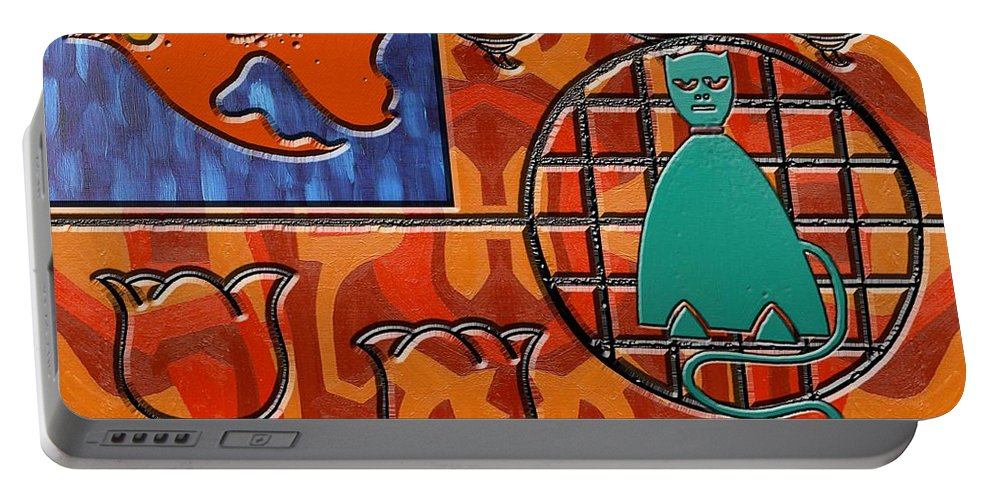 Cats Portable Battery Charger featuring the painting Collage 1 by Patrick J Murphy