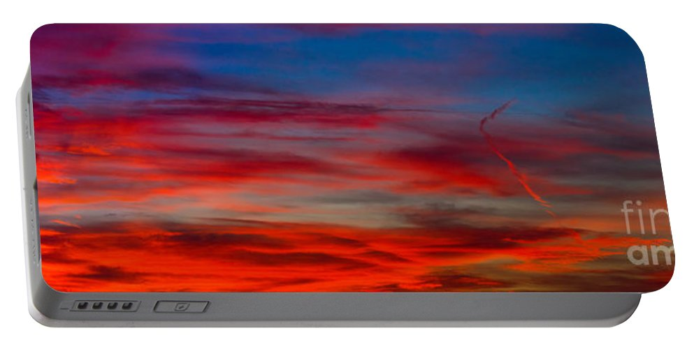 Sunset Portable Battery Charger featuring the photograph Color by Anthony Bonafede