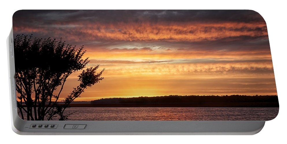 Beaufort County Portable Battery Charger featuring the photograph Color At Last Light by Phill Doherty