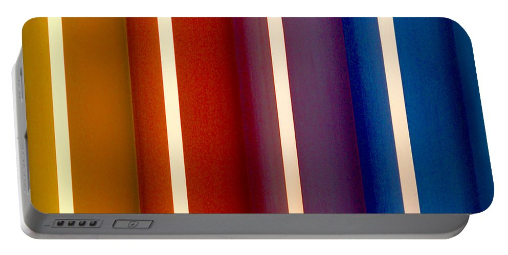 Line Portable Battery Charger featuring the photograph Color Bands by Art Block Collections