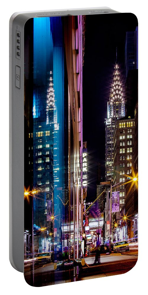 New Portable Battery Charger featuring the photograph Color of Manhattan by Az Jackson