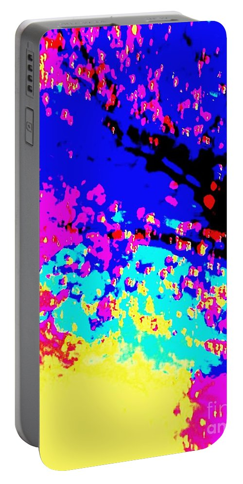 Color Portable Battery Charger featuring the photograph Color Of Rain Abstract by Eric Schiabor