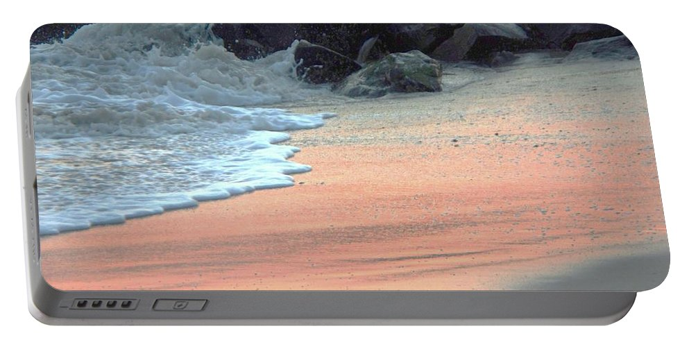 Color Portable Battery Charger featuring the painting Color Of Sand Cape May Nj by Eric Schiabor