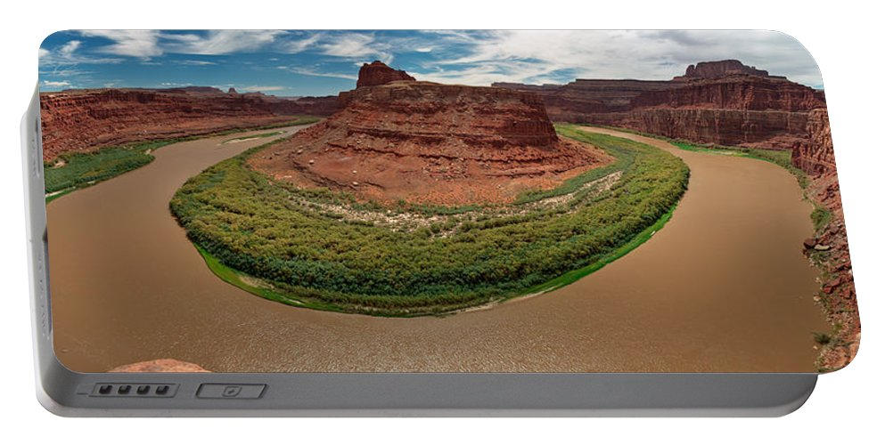3scape Photos Portable Battery Charger featuring the photograph Colorado River Gooseneck by Adam Romanowicz