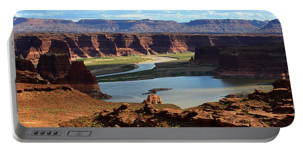 Colorado River Portable Battery Charger featuring the photograph Colorado River Panoramic by David Lee Thompson