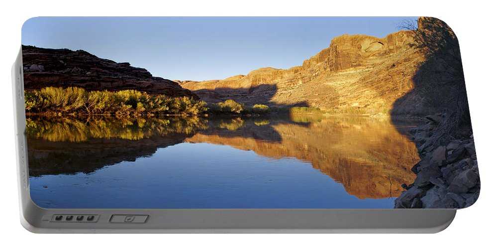 Moab Portable Battery Charger featuring the photograph Colorado River Reflection by Brian Kamprath