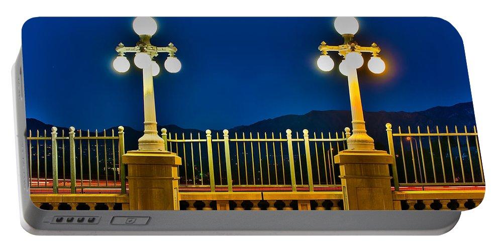 Colorado Street Bridge Portable Battery Charger featuring the photograph Colorado Street Bridge 3 by Richard J Cassato