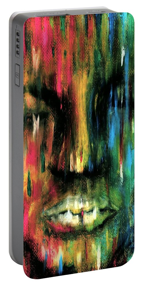 Colorful Portable Battery Charger featuring the photograph ColorBlind by Artist RiA