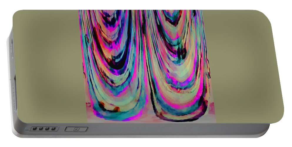 Colorful Portable Battery Charger featuring the digital art Colorful Abstract W by Cassie Peters