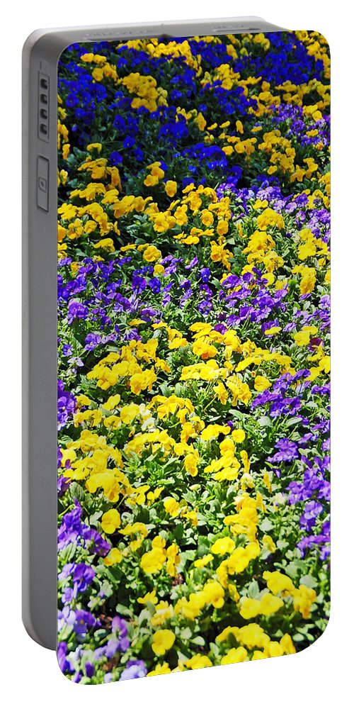 Flower Portable Battery Charger featuring the photograph Colorful Garden by Aimee L Maher ALM GALLERY