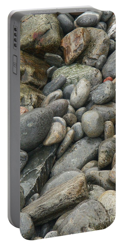 Photography Portable Battery Charger featuring the photograph Colorful Ocean Rocks by Jackie Farnsworth