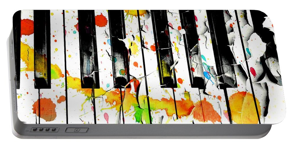 Piano Portable Battery Charger featuring the photograph Colorful Sound by Aaron Berg