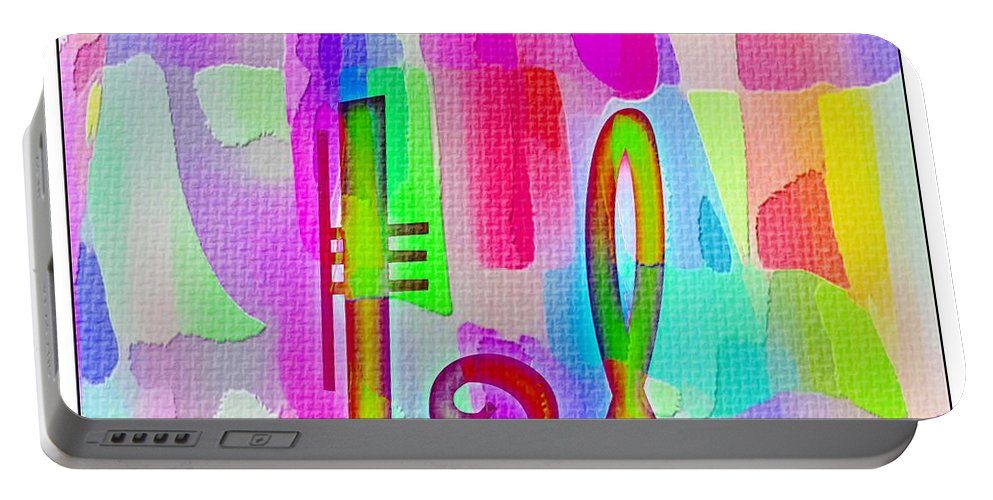Colorful Texturized Alphabet Ll Portable Battery Charger featuring the digital art Colorful Texturized Alphabet Ll by Barbara Griffin