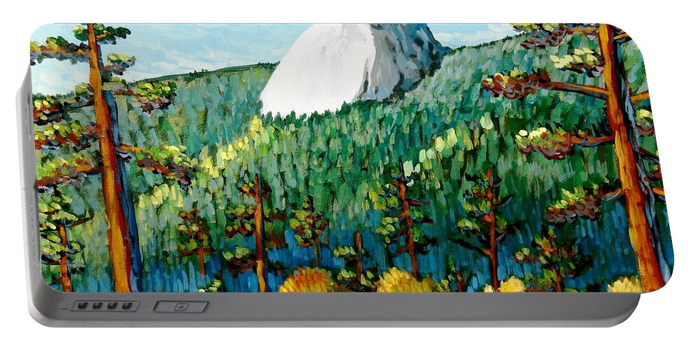 Colorful Landscape Portable Battery Charger featuring the painting Colorful View Of Idyllwild California by Gerry High