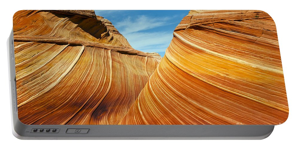 The Wave Coyote Buttes Arizona Grand Staircase Esclante National Monument Monuments Paria Canyon Vermilion Cliffs Wilderness Sandstone Landscape Landscapes Landmark Landmarks Ridge Ridges  Portable Battery Charger featuring the photograph Colorful Waves by Bob Phillips
