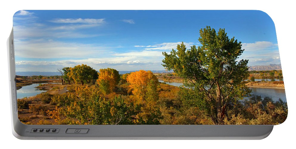 Colorado Portable Battery Charger featuring the photograph Colors Along The Colorado by Bob Hislop