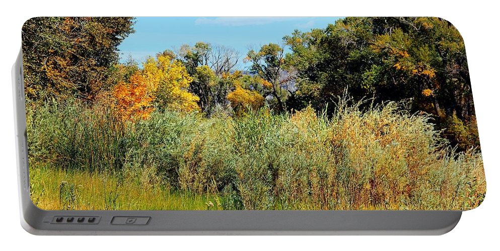 Scenic Portable Battery Charger featuring the photograph Colors Along The Gunnison by Bob Hislop