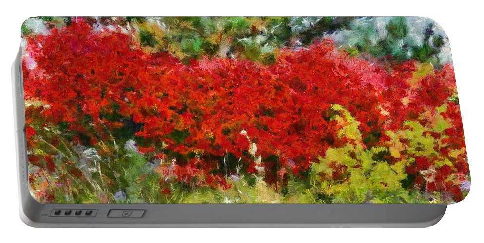 Colors Of Life Portable Battery Charger featuring the painting Colors Of Life by Dan Sproul