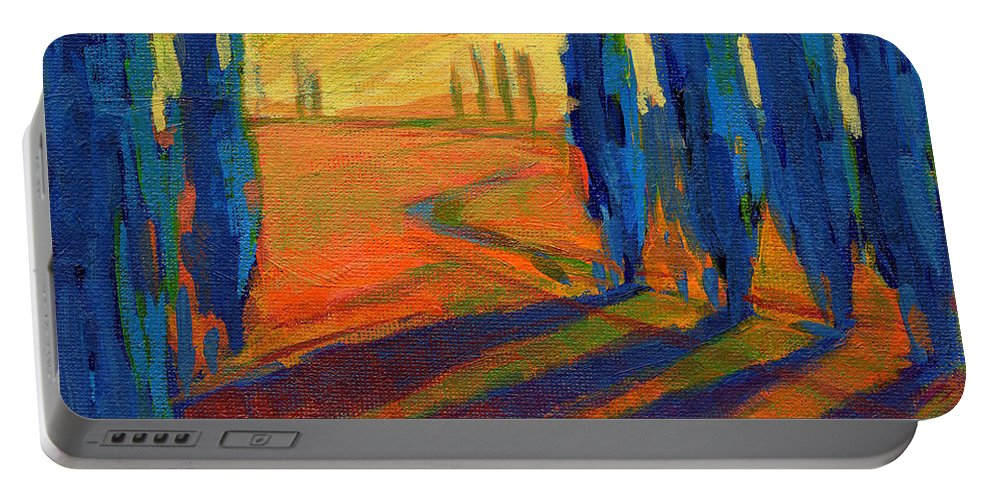California Portable Battery Charger featuring the painting Colors Of Summer 2 by Konnie Kim