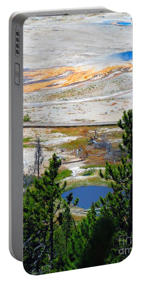 Yellowstone Portable Battery Charger featuring the photograph Colors Of Yellowstone by Ausra Huntington nee Paulauskaite