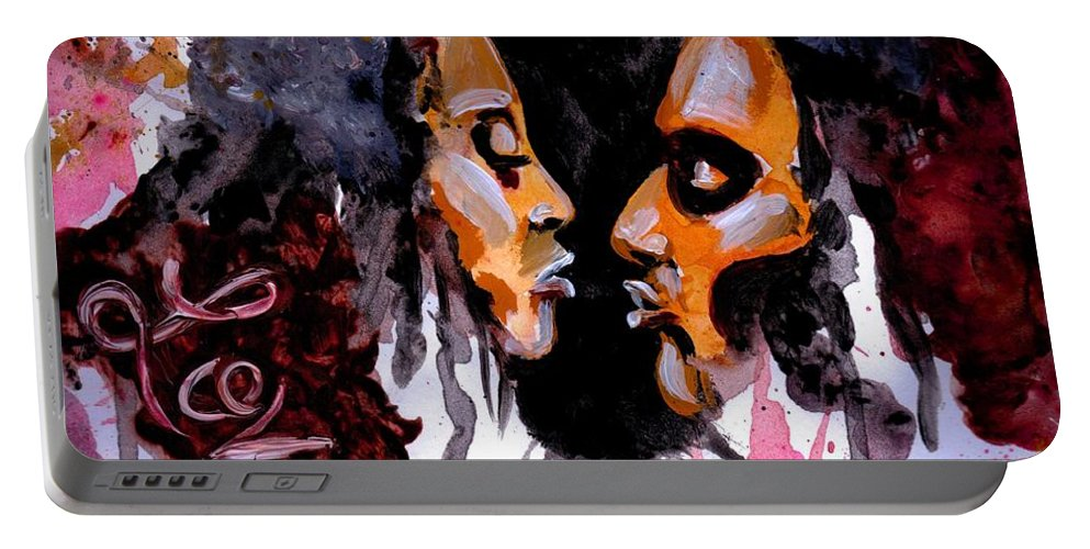 Black Portable Battery Charger featuring the photograph Colossians 3 vs 14 by Artist RiA
