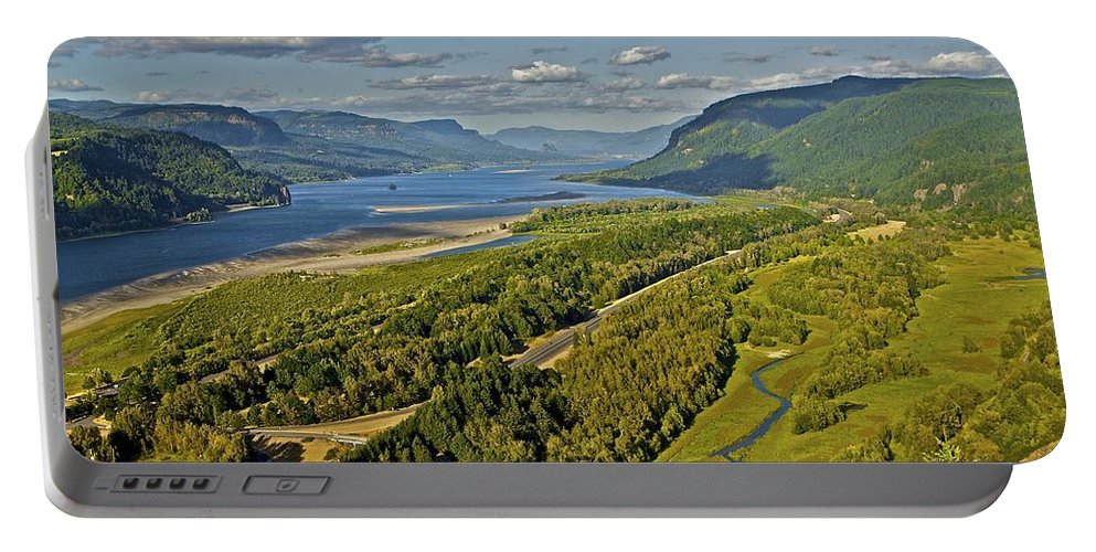 Columbia River Gorge Portable Battery Charger featuring the photograph Columbia Gorge by SC Heffner
