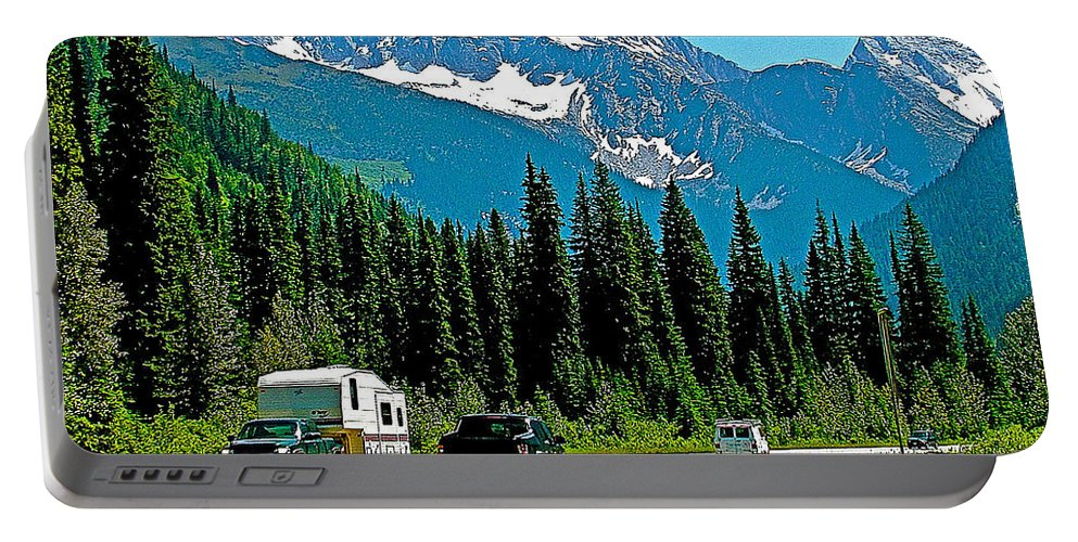Columbia Mountains In Glacier Np Portable Battery Charger featuring the photograph Columbia Mountains In Glacier Np-british Columbia by Ruth Hager