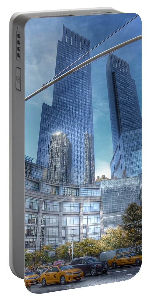 Columbus Circle Portable Battery Charger featuring the photograph New York - Columbus Circle - Time Warner Center by Marianna Mills