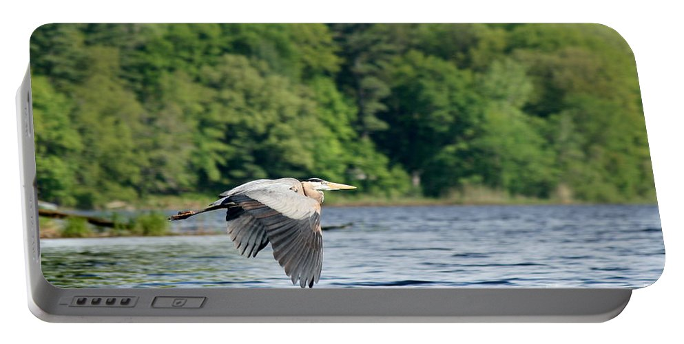 Heron Portable Battery Charger featuring the photograph Come And Go Blues by Neal Eslinger