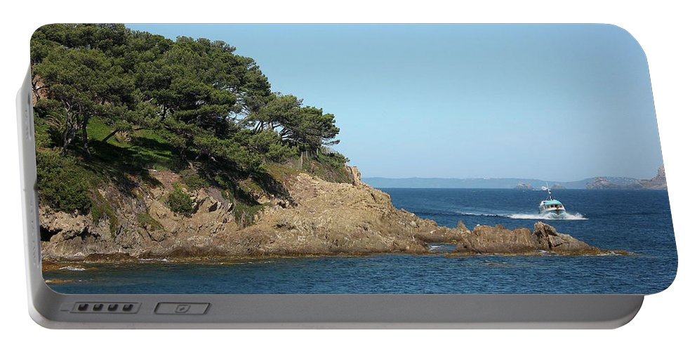 Fishing Boat Portable Battery Charger featuring the photograph Coming Back by Christiane Schulze Art And Photography
