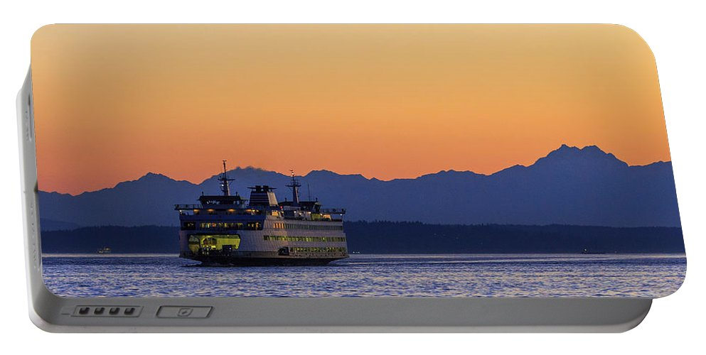 Ferry Portable Battery Charger featuring the photograph Coming Home by Scott Campbell