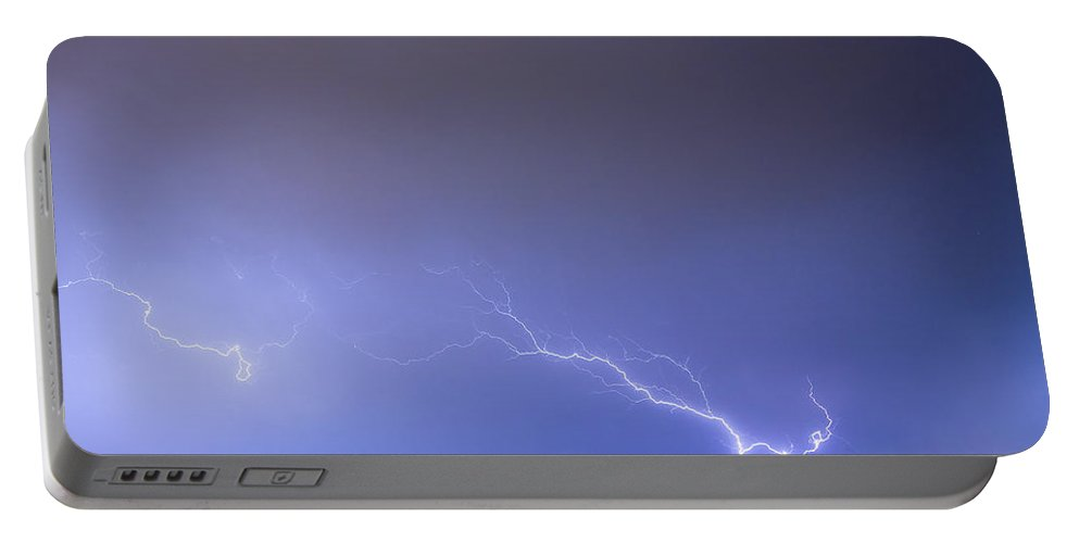 Lightning Portable Battery Charger featuring the photograph Coming In For A Landing by James BO Insogna