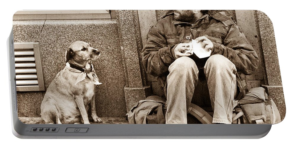 Dog Portable Battery Charger featuring the photograph Companions by Georgette Grossman