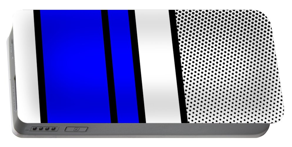 Mondrian Portable Battery Charger featuring the mixed media Composition 119 by Dominic Piperata