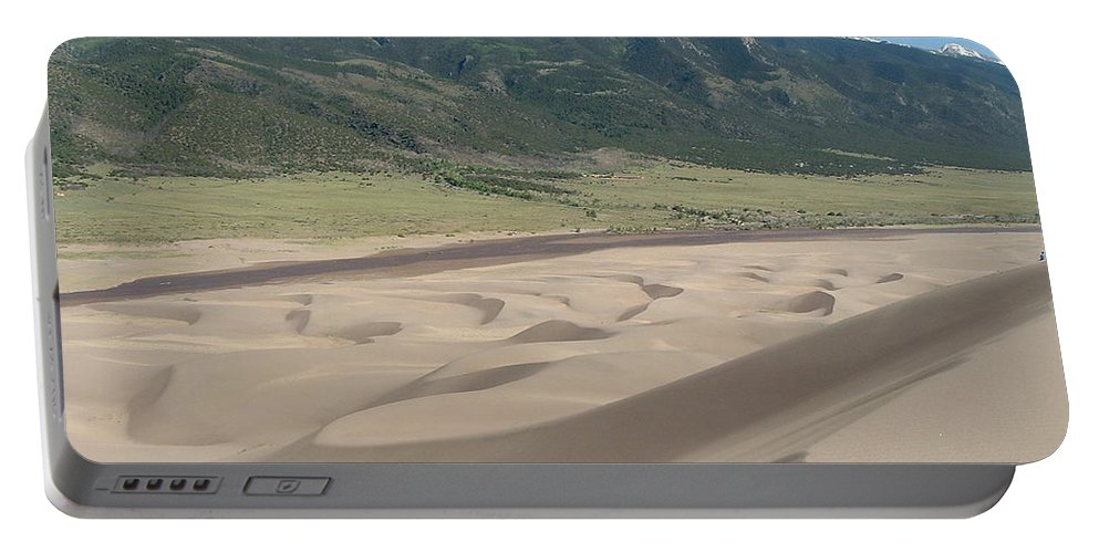 Great Dunes Photographs Canvas Prints Colorado Rocky Mountain Desert Range Landscape Portable Battery Charger featuring the photograph Composition Divide by Joshua Bales