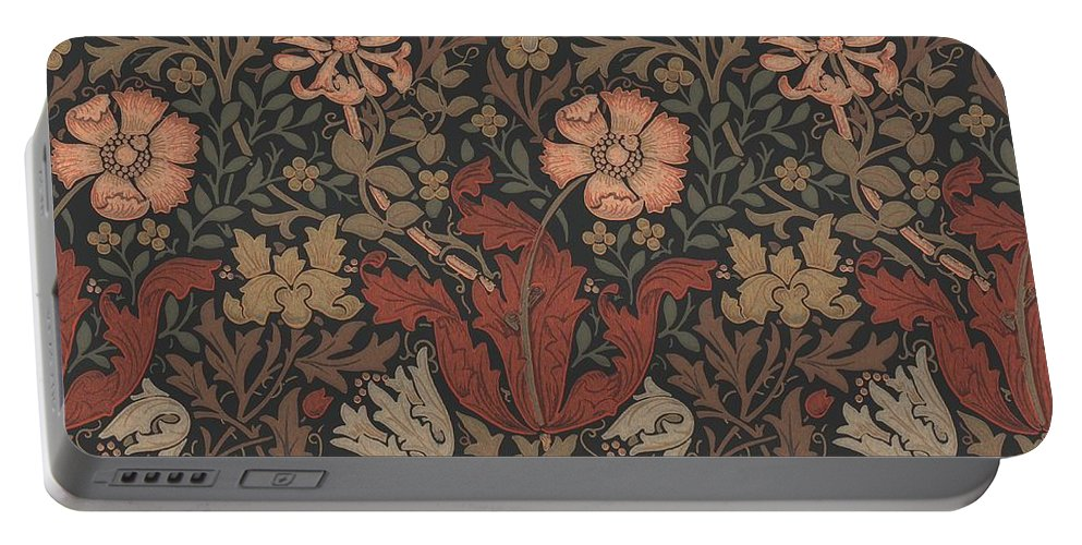 William Portable Battery Charger featuring the tapestry - textile Compton Design by Philip Ralley