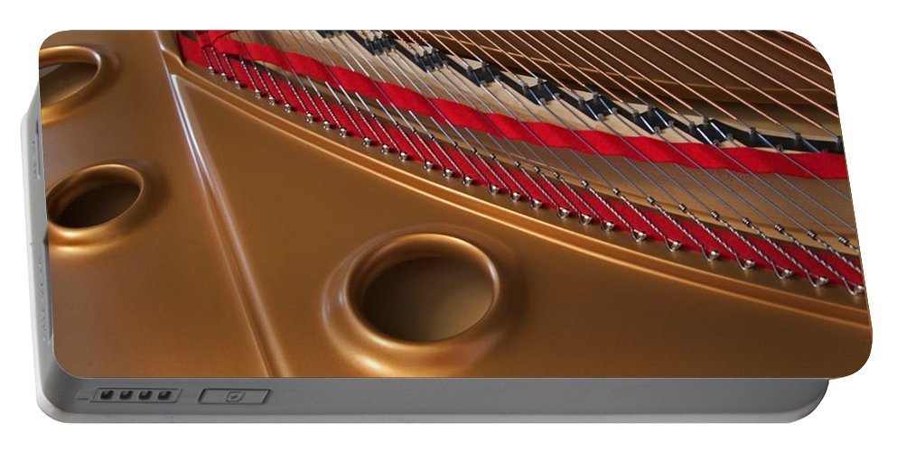 Piano Portable Battery Charger featuring the photograph Concert Grand by Ann Horn