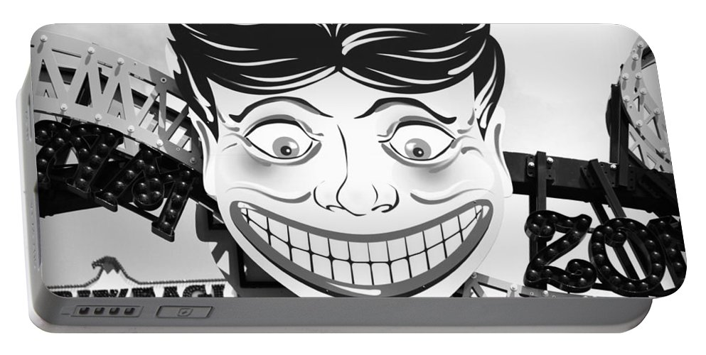 Coney Island Portable Battery Charger featuring the photograph Coney Smile by Valentino Visentini