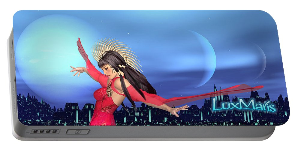 Conjunction Portable Battery Charger featuring the digital art Conjunction by Renate Janssen