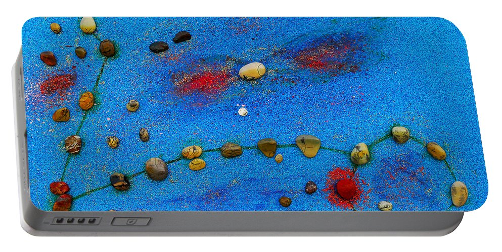 Augusta Stylianou Portable Battery Charger featuring the painting Constellation Of Pisces by Augusta Stylianou