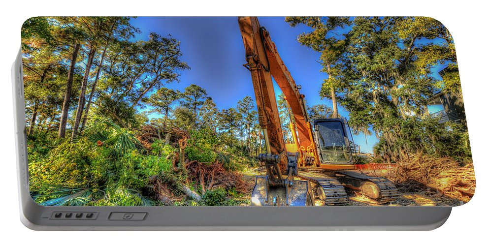 Construction Portable Battery Charger featuring the photograph Construction Site by Dale Powell