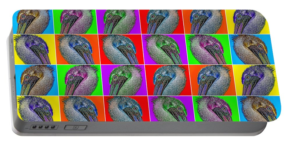 Pelican Portable Battery Charger featuring the photograph Contemporary Pelicans II by Betsy Knapp