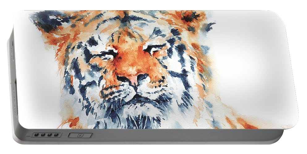 Stephie Portable Battery Charger featuring the painting Contentment by Stephie Butler