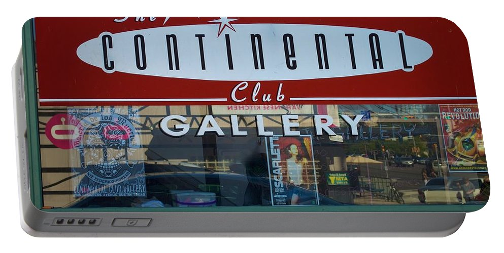 The Continental Club Portable Battery Charger featuring the photograph Continental Club Austin Texas by Kristina Deane