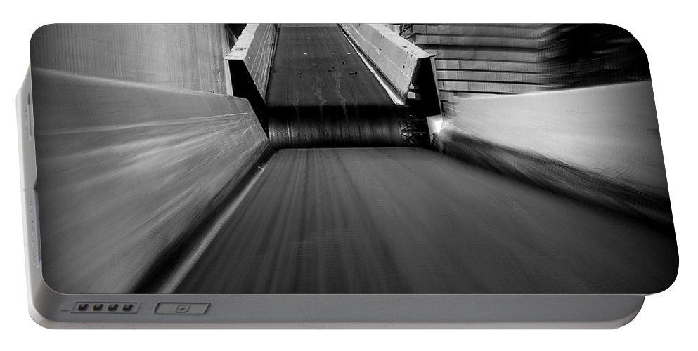 Hopper Portable Battery Charger featuring the photograph Conveyor 2 by Guy Pettingell